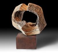 "DESAIRE (Snub) by Juan Ramon Gimeno - Ceramic Sculpture (2012) 14.9/16""  x 13"" x 7.1/16"" Corten steel b. 13"" x 7.11/16"" x 4.3/4"""