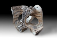 "SCENT OF SEA SALT (Olor a sal marina) by Juan Ramon Gimeno_ 7/8 "" x 13 "" x  15.3/4 "" Ceramic Sculpture"