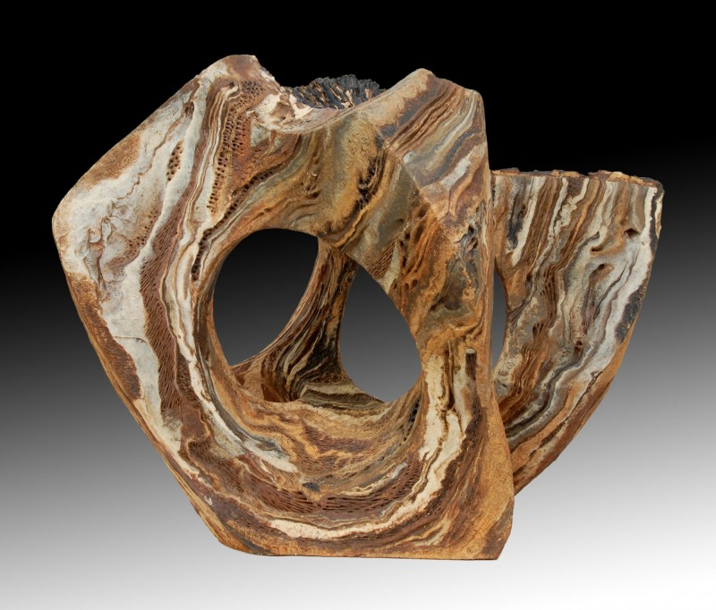"SCENT OF WET SOIL (Olor a tierra mojada)  by Juan Ramon Gimeno - (2013) 23. 5/8 "" x 17. 3/4""  x 18 .1/2"" Ceramic sculpture"