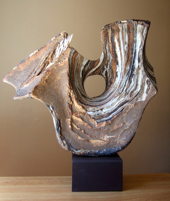 "Ohlone by Juan Ramon Gimeno_ 26.5"" x11"" x 27""_ceramic sculpture"