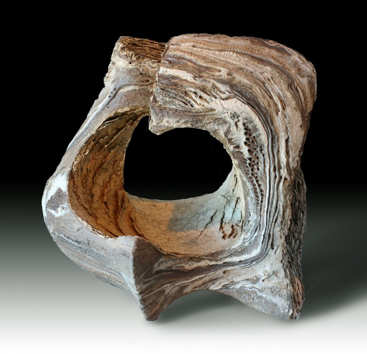 "SCENT OF PIPE TOBACCO (Olor a tabaco de pipa) by Juan Ramon Gimeno - 5-8 ""x 13. 3-4 x  17"" Ceramic Sculpture"